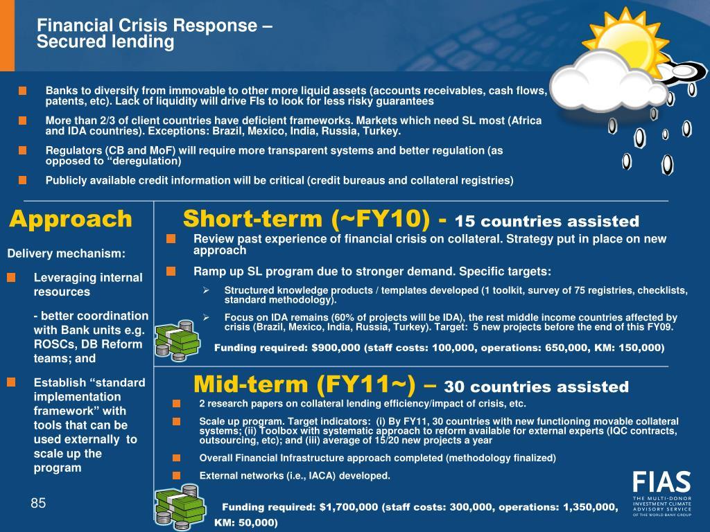 Financial Crisis Response –