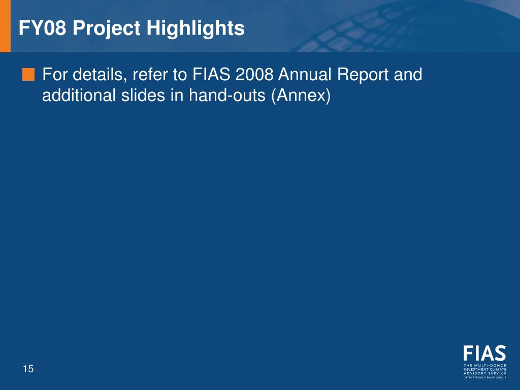 FY08 Project Highlights