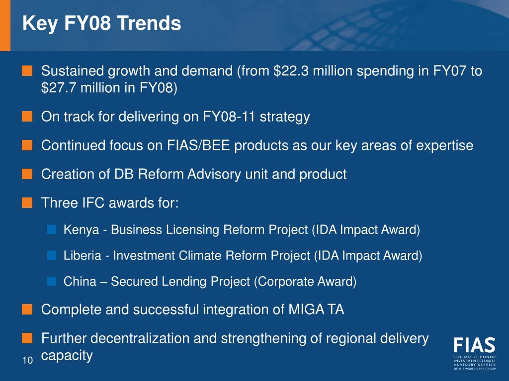 Key FY08 Trends
