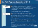 non fias programs supported by cic i