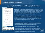 ohada project highlights