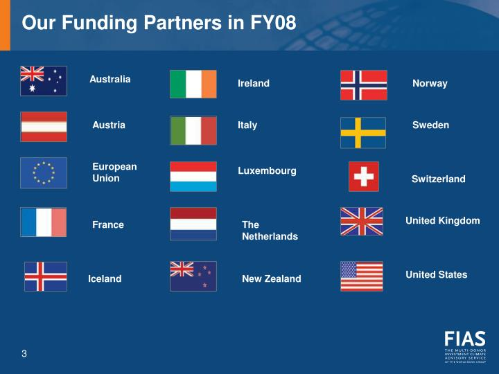 Our funding partners in fy08