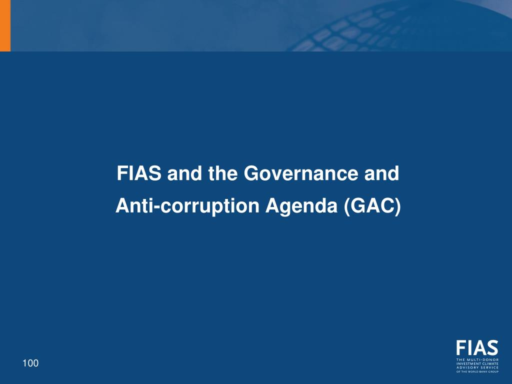 FIAS and the Governance and