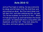 acts 20 6 121