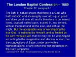 the london baptist confession 1689 chapter 22 paragraph 1