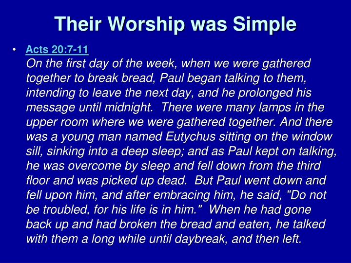 Their Worship was Simple