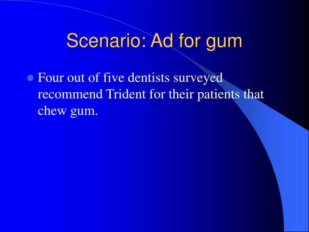 Scenario: Ad for gum
