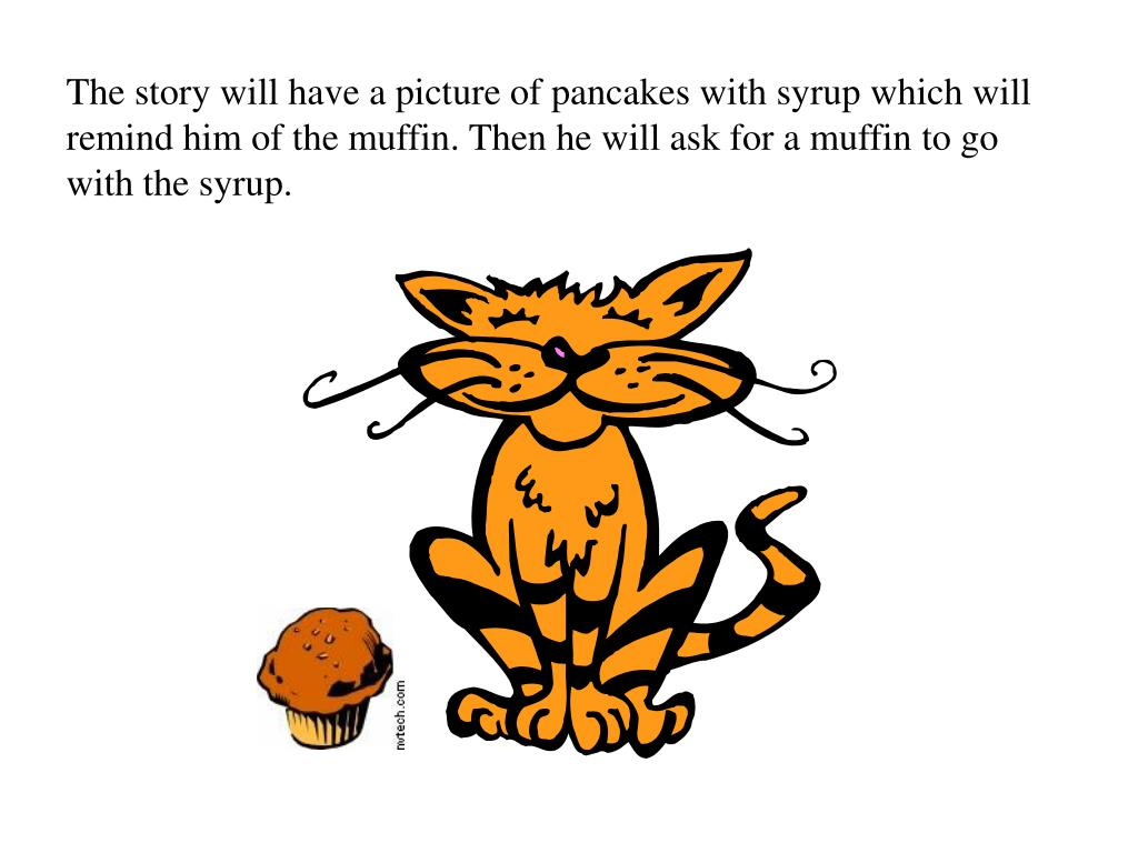 The story will have a picture of pancakes with syrup which will