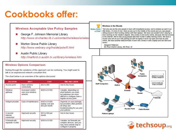 Cookbooks offer: