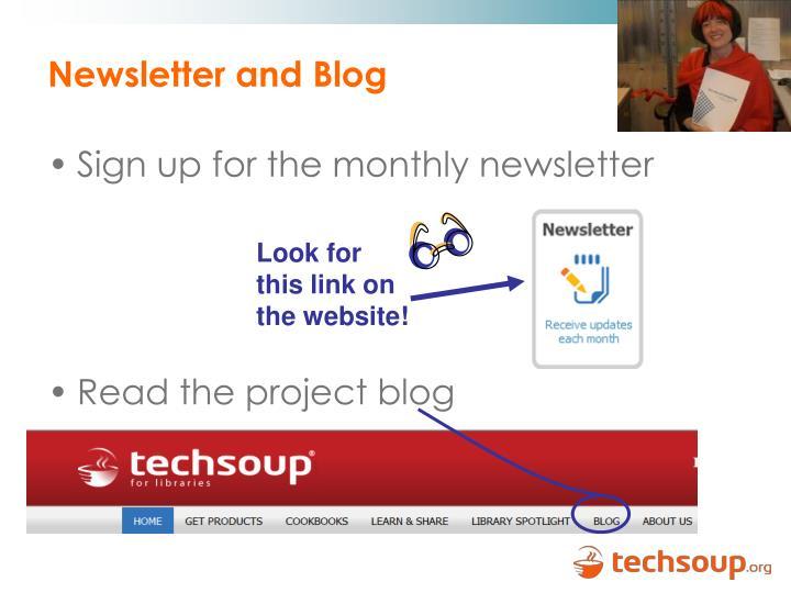 Newsletter and Blog