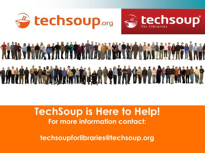 TechSoup is Here to Help!