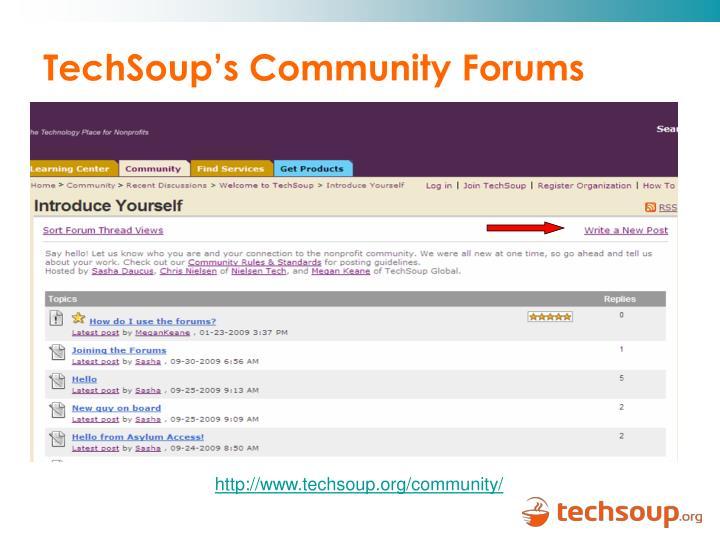 TechSoup's Community Forums