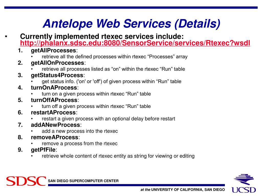 Antelope Web Services (Details)