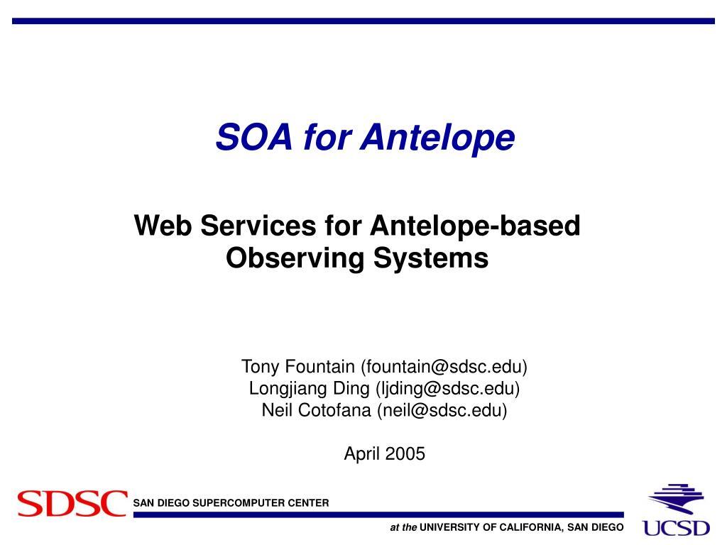 SOA for Antelope