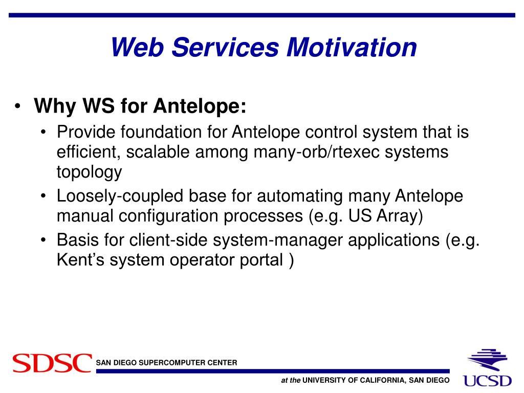 Web Services Motivation