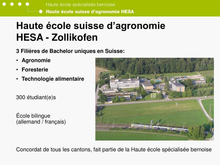 Haute école suisse d'agronomie