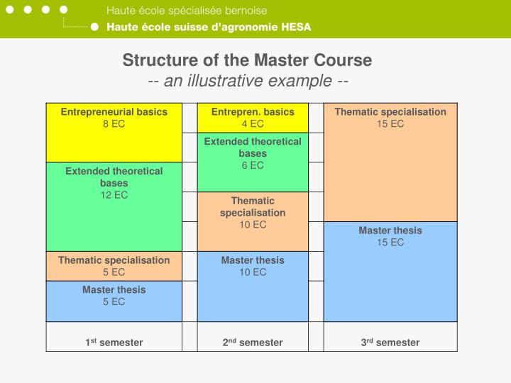 Structure of the Master Course
