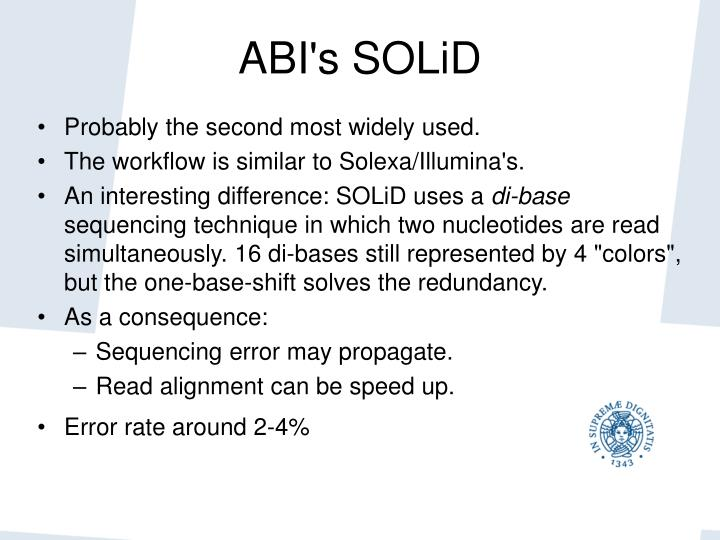 ABI's SOLiD