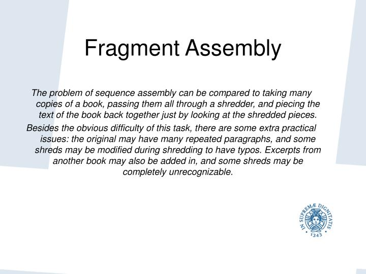 Fragment Assembly