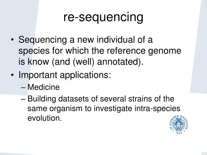 re-sequencing