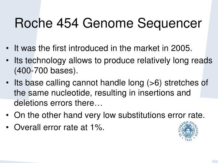 Roche 454 Genome Sequencer