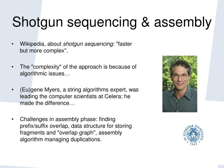 Shotgun sequencing & assembly