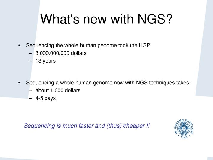 What's new with NGS?