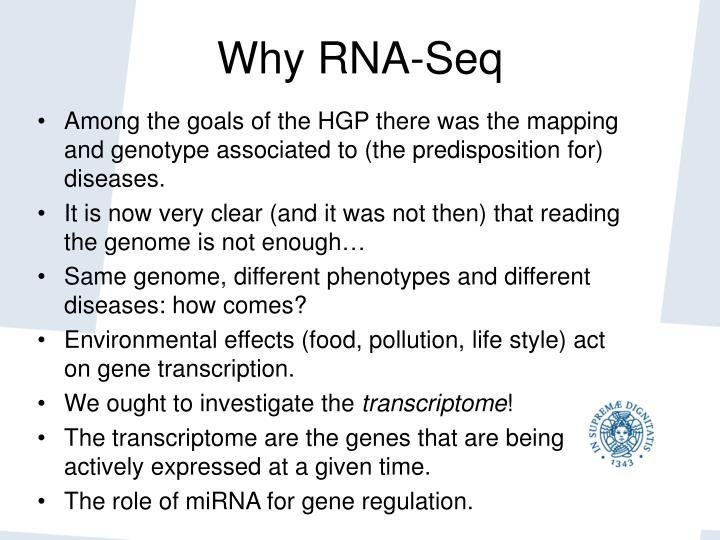 Why RNA-Seq