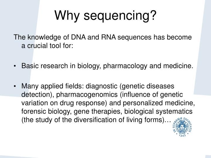 Why sequencing