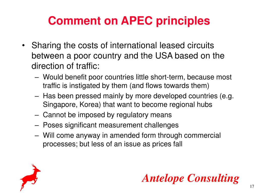 Comment on APEC principles