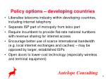 policy options developing countries