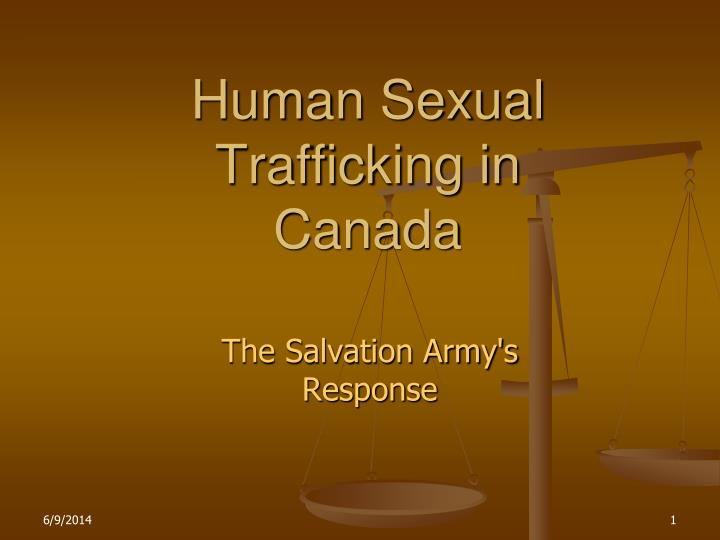 Human sexual trafficking in canada
