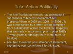 take action politically