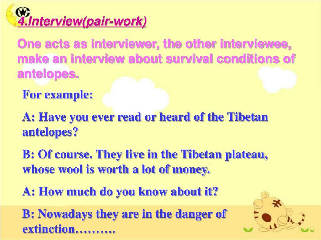 4.Interview(pair-work)