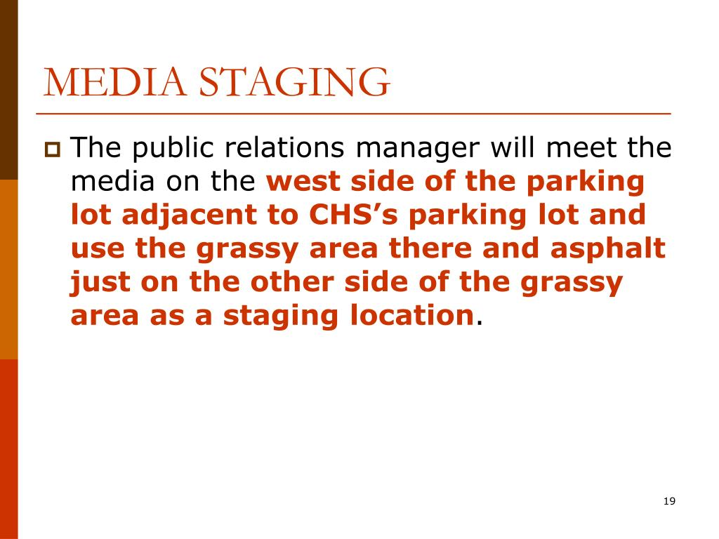 MEDIA STAGING