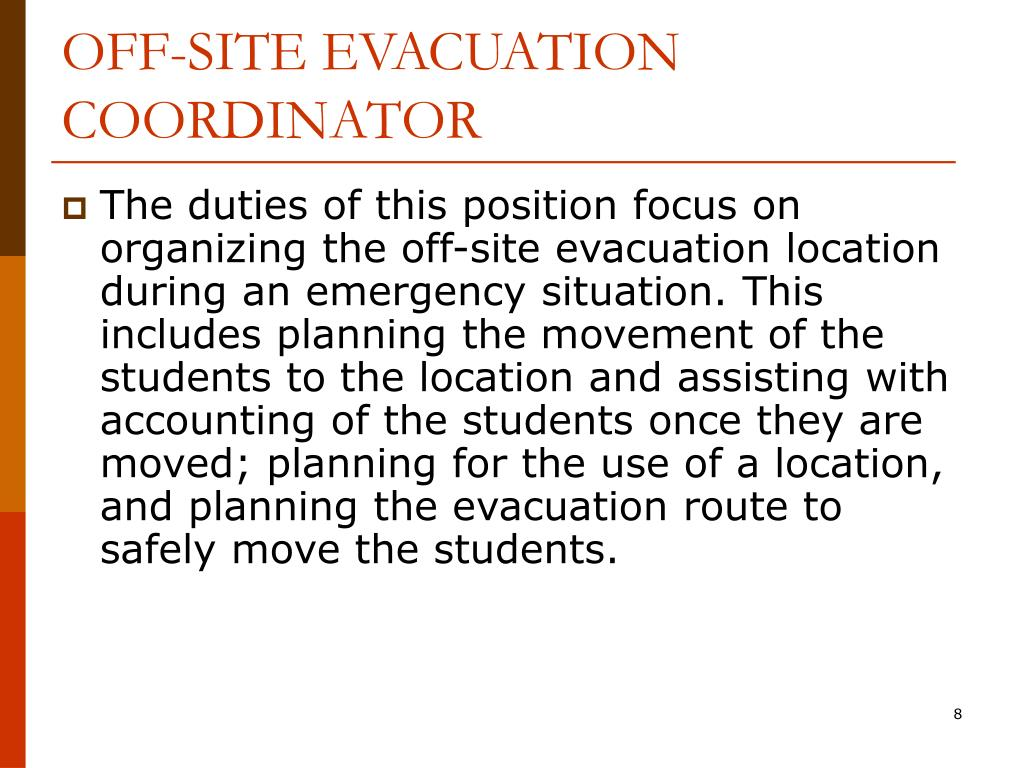OFF-SITE EVACUATION COORDINATOR