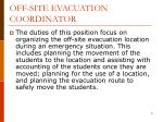 off site evacuation coordinator