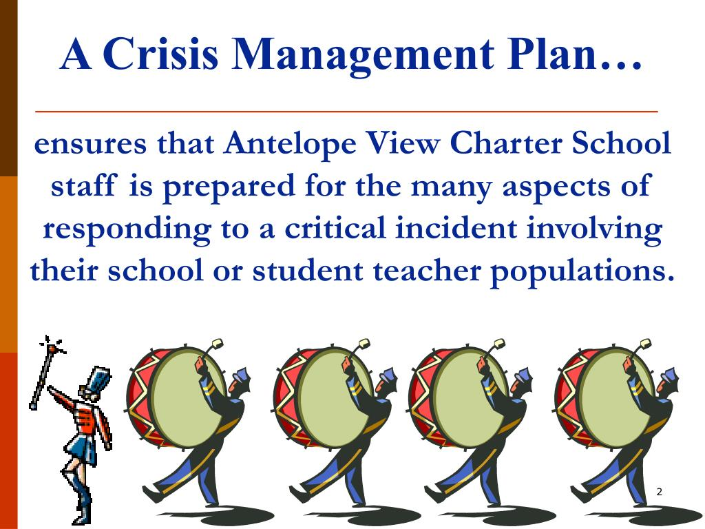 A Crisis Management Plan…