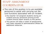 staff assignment coordinator