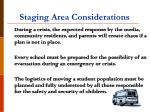 staging area considerations