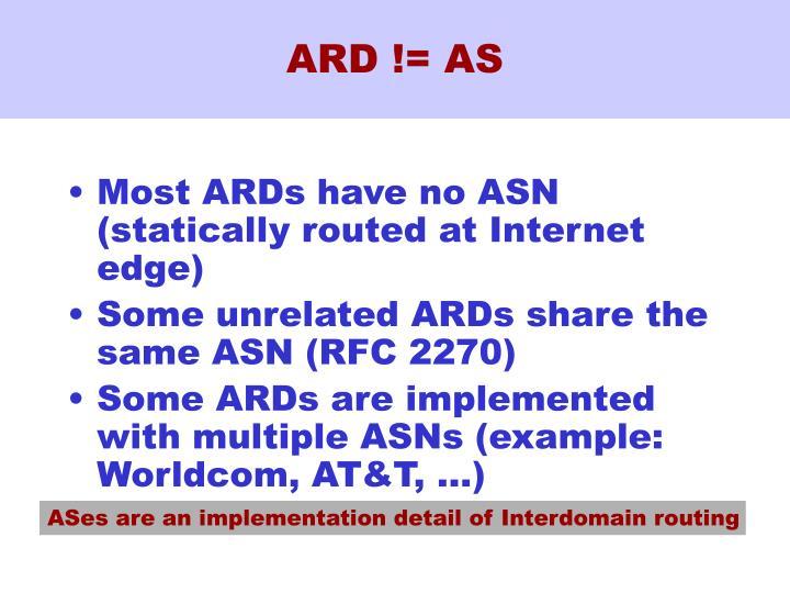 ARD != AS