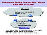 autonomous routing domains don t always need bgp or an asn