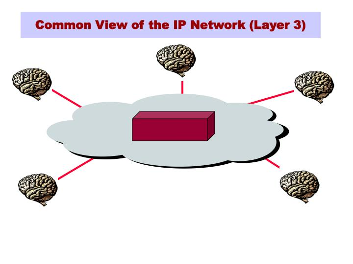 Common view of the ip network layer 3