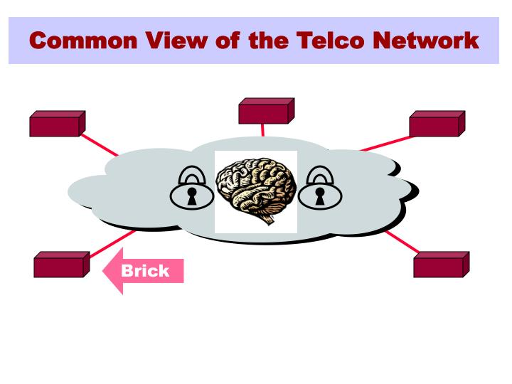 Common view of the telco network