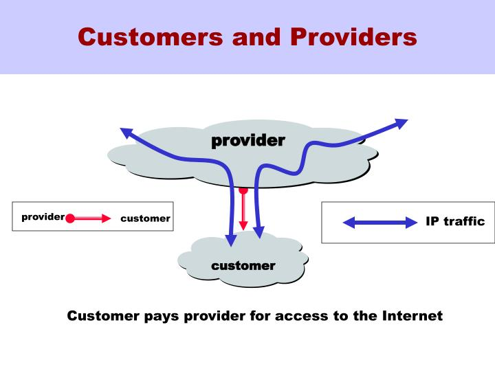 Customers and Providers