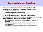 forwarding vs routing