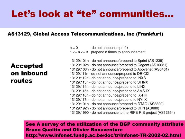 """Let's look at """"te"""" communities…"""