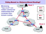 policy based vs distance based routing
