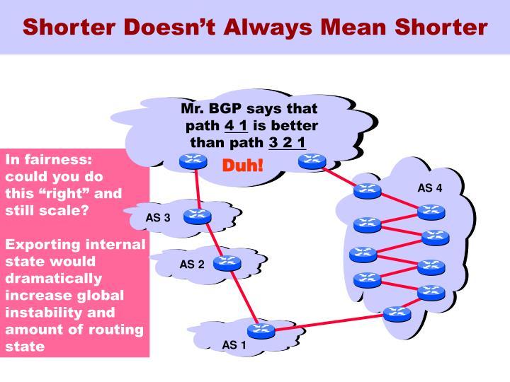 Shorter Doesn't Always Mean Shorter