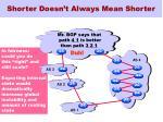 shorter doesn t always mean shorter